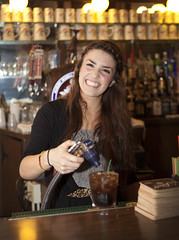 Bartender at Turner Hall (newulm) Tags: imagesbydrea cocktails bartender newulm local happy friendly bar beer history fun