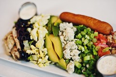 Cobb Salad white plate_Turner Hall (newulm) Tags: salad turnerhall cobb fresh food local healthy