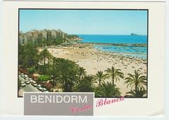 Playa de Poniente  y Parque de Elche Benidorm (reinap) Tags: spain espana benidorm postcard