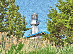 Lighthouse at Aquatic Center (fregettat) Tags: utah lighthouse navigation bearlake