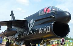 Hellanic Air Force A-7E Corsair II on static at RIAT 2014 (MGW_Photography) Tags: a7e corsairii fairford matthewscamera noseart riat2014 yr2014