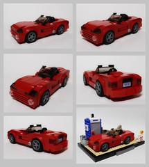 FF3 Clay's 2006 Dodge Viper SRT-10 (collage) (Iggy X) Tags: lego moc speed champions fast furious tokyo drift moviecar dodge viper srt10