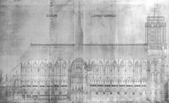Notre Dame 05 (Chris Protopapas) Tags: paris france cathedral architecture notredame notredamedeparis gothic section logitudinal drawing violetleduc
