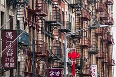 Chinatown NYC (bhermann.hamburg) Tags: nyc nga newyork chinatown buildings red fireescape feuerleiter
