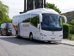 Fairline Coaches of Glasgow Scania K360IB4 Irizar i6 F10LNE, in Trafalgar tours livery, at Regent Road, Edinburgh, on 13 May 2019. (Robin Dickson 1) Tags: craigofcampbeltown busesedinburgh fairlinecoaches irizari6 scaniak360ib4 hodgsonscoachesofbarnardcastle yr15vcc westcoastmotors f10lne