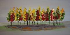 Row of trees in acrylic (Xtraphoto) Tags: row reihe baumreihe bäume trees colors farben acrylic acryl art kunst painting malen