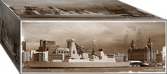 """ WOULD YOU OPEN A BOX TO LET A DRAGON OUT "" ?? (liverpoolmeerkat has returned.) Tags: hms dragon royal navy mersey liverpool warship river box sepia waterfront"