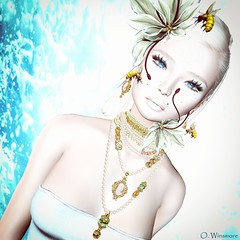 Beautiful Day (Ombrebleue Winsmore) Tags: chopzuey cameo jewels necklace earrings set lode head accessory accessories stealthic hair long blond justbecause fashion couture gown formal maitreya mesh body lelutka glamaffair skin applier bento lumipro spot spots light lights lighting photograph photography picture photo tool tools