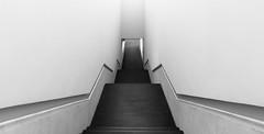 Downwards (frankdorgathen) Tags: alpha6000 sony1018mm weitwinkel wideangle monochrome blackandwhite schwarzweiss schwarzweis minimalismus minimalistic minimalism gebäude building münster kunst art lwlmuseumfürkunstundkultur architecture architektur treppe stairs