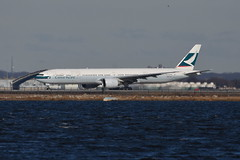 Cathay Pacific Airways - Boeing 777-300ER - B-KPD - John F. Kennedy International Airport (JFK) - February 19, 2019 009 RT CRP (TVL1970) Tags: nikon nikond7200 d7200 nikongp1 gp1 geotagged nikkor70300mmvr 70300mmvr aviation airplane aircraft airlines airliners johnfkennedyinternationalairport kennedyairport jfkairport jfkinternational jfk kjfk bayswaterpark bkpd cathaypacificairways cathaypacific cathay boeing boeing777 boeing777300 boeing777300er boeing777367 777367 777367er b777 b773 777 777300 777300er boeingtripleseven tripleseven generalelectric ge ge90 ge90115 ge90115b