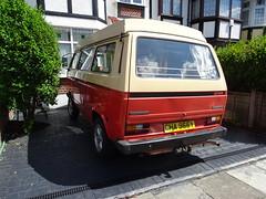 1982 Volkswagen Transporter Camper Van (Neil's classics) Tags: vehicle 1982 volkswagen transporter camper van t3 t25 vw camping motorhome autosleeper motorcaravan rv caravanette kombi mobilehome dormobile