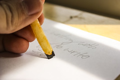 Unlikely Pencil 2 (JohnSBU) Tags: food frenchfry french fry writing pencil paper