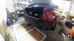 Volvo S80 2.4T Rear Bumper Removed (ND-Photo.nl) Tags: volvo s80 car garage black metallic s60 v70 p2 wasa limited dition 2001 repair maintenance