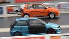(Sam Tait) Tags: fiat punto mk1 phase 1 blue petrol gt het arbarth turbo dragster retro rare classic car doorslammers santa pod raceway england efwd fwd vw volkswagen lupo parachute orange