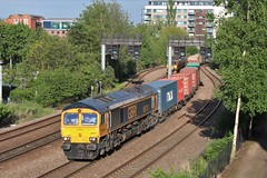 GBRF Class 66 66747 (Adam Fox - Plane and Rail photography) Tags: europorte shed freight intermodal train 66747 hauls 4z26 1321 felixstowe south gbrf masborough nw through east holmes junction lincoln 210519 diesel loco locomotive br railways rail british railway railroad tracks