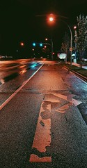 Directing night. (thnewblack) Tags: huawei p30pro leicaoptics smartphone cameraphone lowlight nightmode road night britishcolumbia outdoors hdr vsco lights