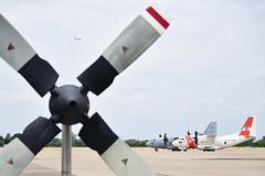 USCG Air Station Sacramento (1) (Ian E. Abbott) Tags: c130 hercules propeller uscoastguard uscg coastguard airstation sacramento alenia hc27j c27j spartan searchandrescue sar maritimepatrol