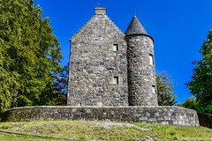 Wallace Tower est 1600's - Aberdeen Scotland (DanoAberdeen) Tags: architecture 2019 1600s 16thcentury tillydrone oldaberdeen aberdeenuniversity seatonpark danoaberdeen aberdeen tower castle ancient weathered abandoned zplan turret towerhouse historicscotland nationaltrustforscotland benholmstower benholmslodge architect archibaldsimpson gold sky blue aberdeenhistory nikond750 building heraldry heritage scottishheritage bonnyscotland bonniescotland neglected forgotten danestone aberdeenscotland candid amateur scottishruins summer winter spring autumn scotch sirrobertkeith listedbuilding bridgeofdon ruins outdoors history cityscape coatofarms pedigree thekeiths antique oldtimer