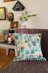 SUCCULENTS PILLOW2 (hunnelle.kari) Tags: succulents plants florals flora hawaiiart gardening spoonflower fabricdesigner ipaint watercolorsonfabric fabric textile