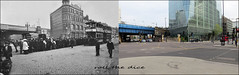 Blackfriars Road`1906-2019 (roll the dice) Tags: london southwark se1 tram edwardian sad traffic transport bridge thameslink changes collection windows vanished demolished streetfurniture people fashion architecture urban england uk classic art oldandnew pastandpresent hereandnow canon tourism tourists old local history bygone retro nostalgia comparison icohen greatcentralrailway eppcocoa hats bus lights taxi allfordhallmonaghanmorris advertising victorian cctv junction reflection passengers horsecart mad