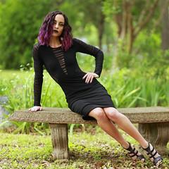 img_4559-sq (steevithak) Tags: cemetery modeling model blackdress purplehair blacklips darkbeauty graveyard greenwoodcemetery dallas texas tx