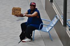 Panhandler on Nicollet Mall (schwerdf) Tags: downtownminneapolis minneapolis minnesota nicolletmallfarmersmarket
