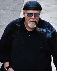 Man smoking pipe, Nicollet Mall (schwerdf) Tags: downtownminneapolis minneapolis minnesota nicolletmallfarmersmarket