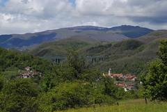 The Ancestral Home (Elizabeth Almlie) Tags: italy toscana tuscany scorano pontremoli vignola view mountains hills highway bridge