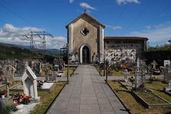 Vignola cemetery (Elizabeth Almlie) Tags: italy toscana tuscany vignola cimitero cemetery chapel gravestones
