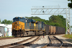 Export Coal (TolgaEastCoast) Tags: csx coal train newport news virginia es44ah cw44ac black diamonds trains railroad bridge chesapeake ohio peninsula subdivision