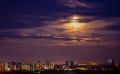 The Moon is touching the clouds (TariqZa | タリク) Tags: sky clouds cloud damascus syria moon city town capital sunset sun cloudy damas damascene sigma syrian street arabia square edition youth old road panorama plants lens lapse light life example canon 7d 70300 macro landscape view