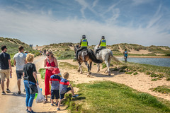 dune days (stevefge) Tags: 2019 art crosby liverpool uk beach water people candid unsuspectingprotagonists unsuspecting coast horses police dunes duinen kids kinderen children boys family sand riders lancashire england nikon reflectyourworld