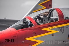 Getafe Airshow 2019 (Ejército del Aire Ministerio de Defensa España) Tags: getafe airshow aerobatic ejércitodelaire fuerzaaérea airforce aviación aviation militar military patrullaáguila c101 cabina cockpit pilot piloto