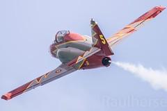 Getafe Airshow 2019 (Ejército del Aire Ministerio de Defensa España) Tags: getafe airshow aerobatic ejércitodelaire fuerzaaérea airforce aviación aviation militar military patrullaáguila c101 flight vuelo