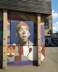 What's up man? (lana.graal) Tags: artplay art wall picture film actor moscow russia искусство стена москва россия актёр картина граффити graffiti
