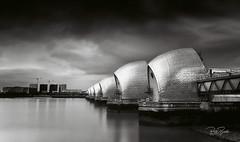 Thames Barrier (petebristo) Tags: thames barrier thamesbarrier water river london cloudy bw bwfineart longexposure leefilters bigstopper monochrome