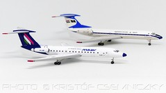 MALÉV Tu-134 modellek | Herpa Wings | 1:500 (KristofCs) Tags: halbr halbp malév tu134 herpa wings 1500 malev hungarian collector model repülőgép