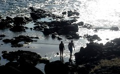 Beach trip (thomasgorman1) Tags: bright sunlight beach rocks people shore fujifilm shine lavarock pohaku molokai man woman