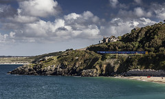Carbis Bay, St Ives (2c..) Tags: carbis bay uk england cornwall st ives water beach train railroad class 150 headland summer best 2c 2cimage sky sea hayle holidays 2c©image