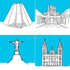 Rio de Janeiro set of buildings (Hebstreits) Tags: america architecture art background beautiful brazil building business city cityscape contour cute de design drawing handdrawn icon icons illustration isolated janeiro landmark landmarks landscape line modern monuments natural new nice outline perspective rio set silhouette sketch skyline skyscraper south style symbol travel urban vector web