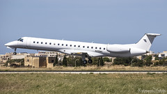 Malta International Airprt (Redeemer_Saliba) Tags: aerosource llc embraer erj145lr n416ma landing lmml luqa airport rwy 31