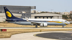 Malta International Airport (Redeemer_Saliba) Tags: jet airways boeing 73786j daaan landing lmml luqa airport rwy 31