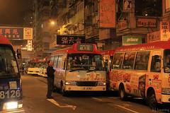 Mong Kok Mini Bus Station (tomosang R32m) Tags: yakei night mongkok minibus hongkong kowloon 小型巴士 小巴 bus バス 香港 旺角 九龍 夜景 夜 バス停 小巴站
