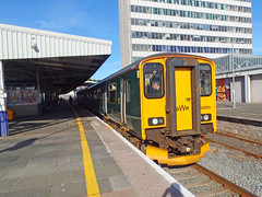 150265 Plymouth (1) (Marky7890) Tags: gwr 150265 class150 sprinter 2c74 plymouth railway devon devonmainline train