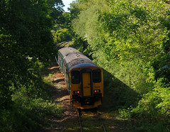 150265 Bere Ferrers (5) (Marky7890) Tags: gwr 150265 2g73 class150 sprinter bereferrers railway devon tamarvalleyline train