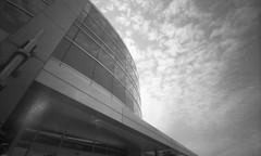 Office Building - Salt Lake City, Utah (Shaun Nelson) Tags: 120film expiredfilm holga holgawpc120 kodak pinhole bw blackwhite building saltlakecity utah utfp utahfilmphotography utahfilmphotographycom kodakverichromepan verichrome