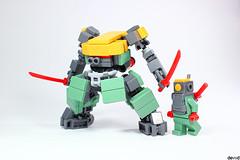 Blosg 03 (Devid VII) Tags: devidvii devid vii zizystyle moc mecha mech drone brightlightorange sandgreen red lego