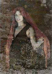 REMY CLARISSE 1 v1 (REMYRO) Tags: design portrait tableau concept illustration art style femme beauty beauté surréaliste peinture couleur rouge moisissures danse