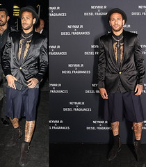 PSG striker, Neymar steps out in stylish outfit for the launch of his new fragrance in Paris. Photos (baydorzblogng) Tags: nigeria news africa international celebrity gists other education fashion