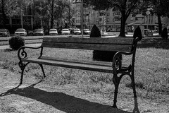 lonely bench (Fotopocke) Tags: bench bank schwarzweis blackwhite